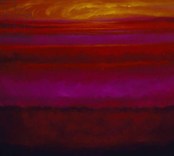 Gold and Magenta, 2005, (oil on canvas)