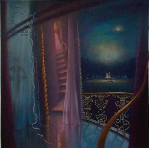 Le Reflet de la Lune, 2011 (oil on canvas)