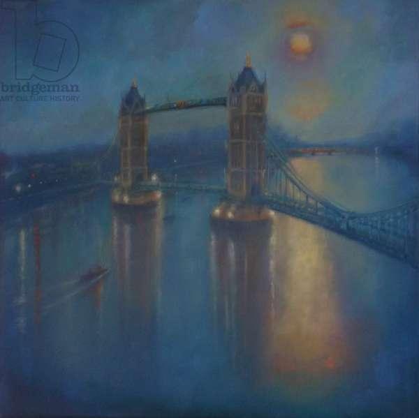Thames Blue, 2015, (oil on linen)