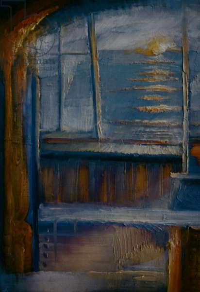 Whitstable Sunset, 1991, (oil on panel)