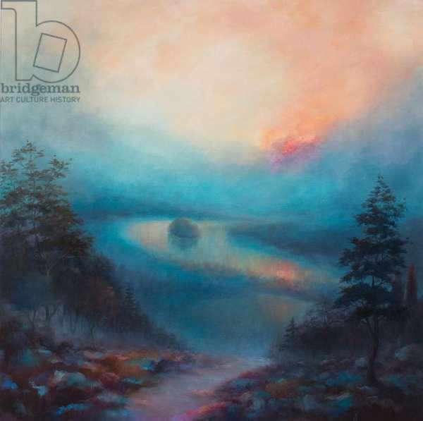 Misty Blue, 2017, (oil on canvas)