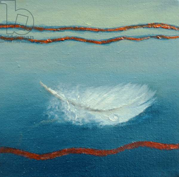Floating, 2001 (oil on canvas) Feather