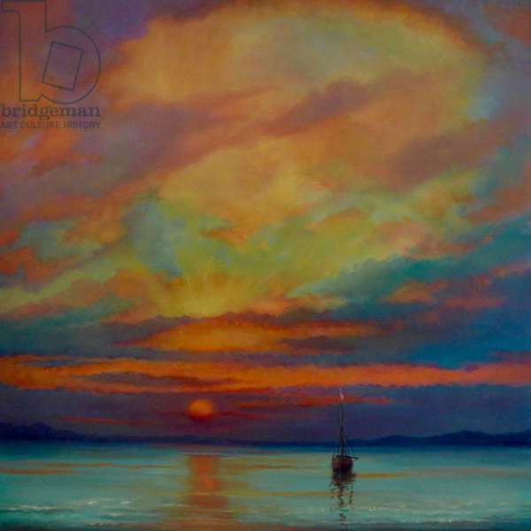 Eau Tranquilles, 2020, (oil on canvas)