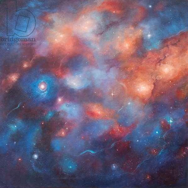 Cosmos I, 2017, (oil on canvas)