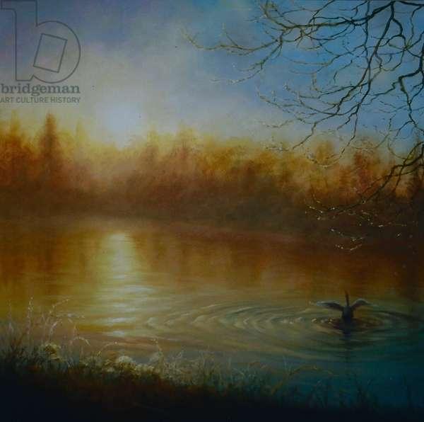 Thames Sunrise, 2004 (oil on canvas)