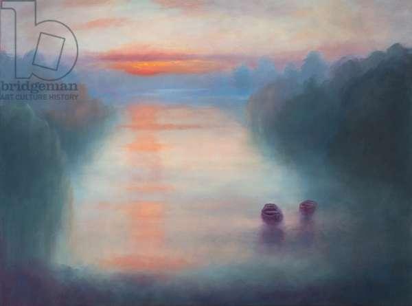 Morning Mist, 2017, (oil on canvas)