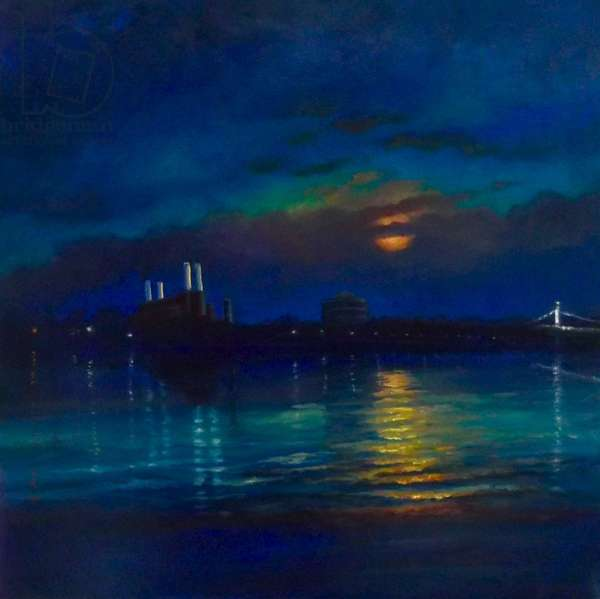 Battersea Moon, 2013 (oil on canvas) Battersea Power Stn.