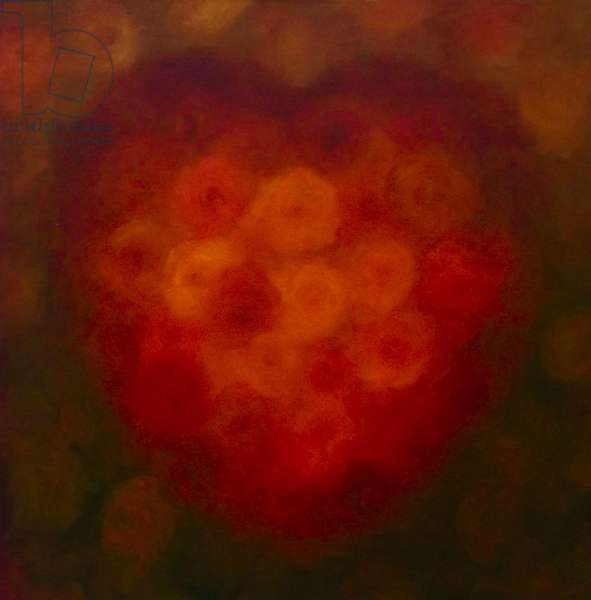 Heart of Gold 2014 (oil on canvas) Heart with roses