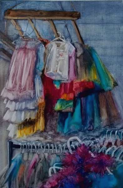 Costumes II, 2011 (oil on paper)