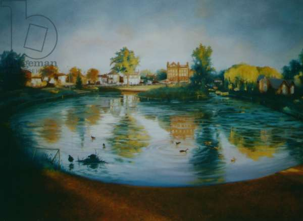 Barnes Pond, 2006 (oil on canvas) Barnes morning