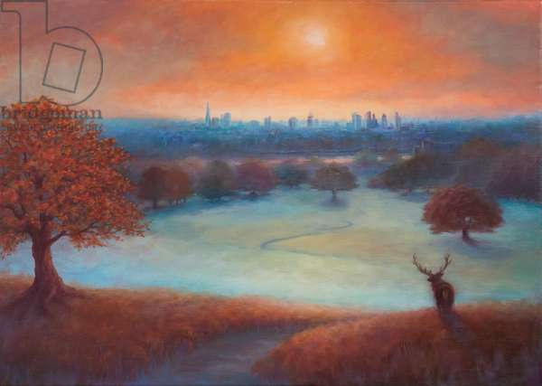City View London from Richmond Park), 2017, (oil on linen)