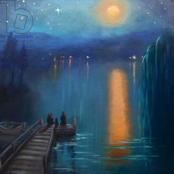 Moonlight, 2019, (oil on canvas)