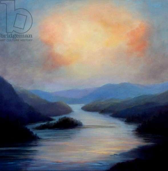 Highland Loch, 2018, (oil on canvas)
