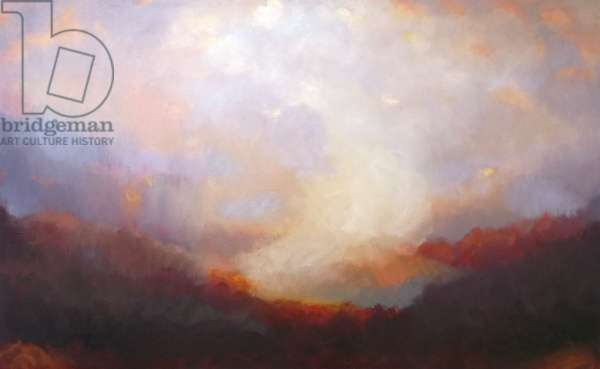 Ascension 2014 (oil on canvas) Landscape