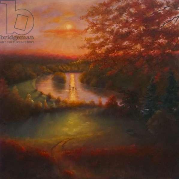 October Glow 2011 (oil on canvas) Landscape