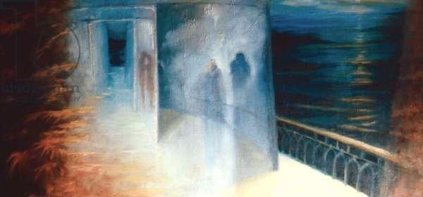 Meet on the Ledge, 1999 (oil on canvas)