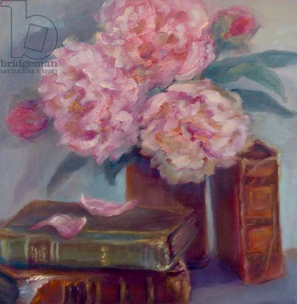 Peonies Pink, 2019, (oil on canvas)