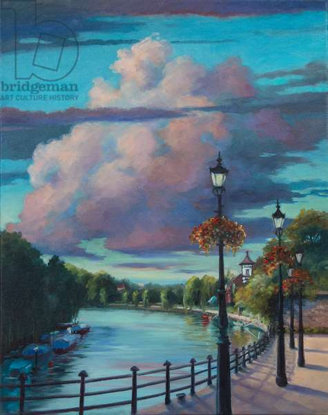 Twickenham Embankment, 2017 (oil on canvas)