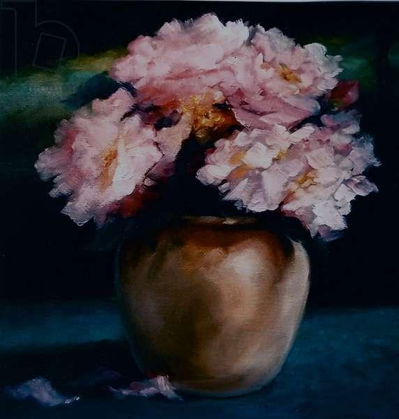 Peonies, 2010 (oil on canvas)