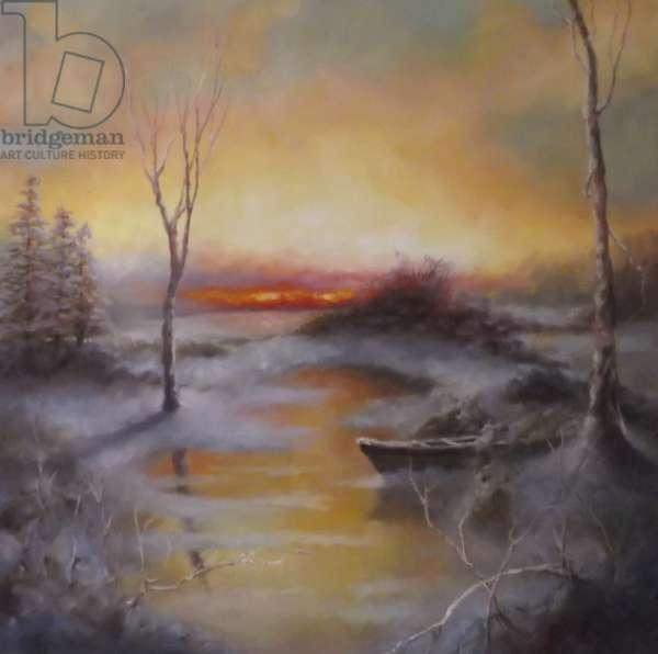 Frozen Gold 2012 (oil on linen) Winter landscape