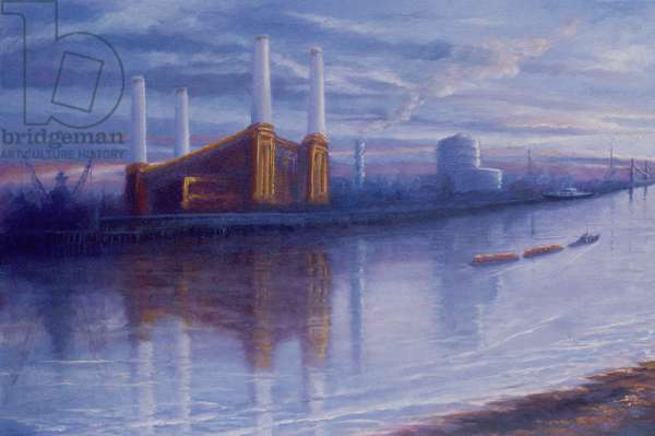 Old Glory, 1999 (oil on canvas) Battersea Power Station, Thames