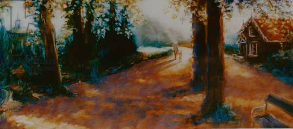 Dane John Gardens, Canterbury, 2000 (oil on paper)