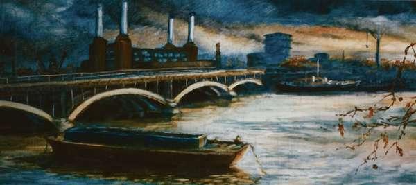 Thames Lighter Boat, 2000 (oil on paper)