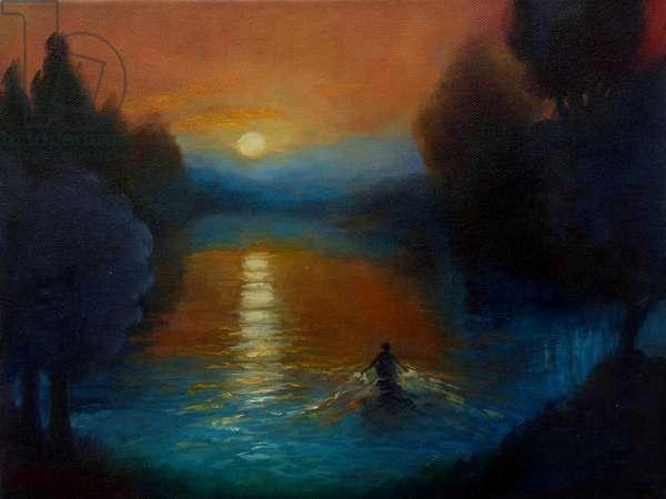 Journey, 2018, (oil on canvas)