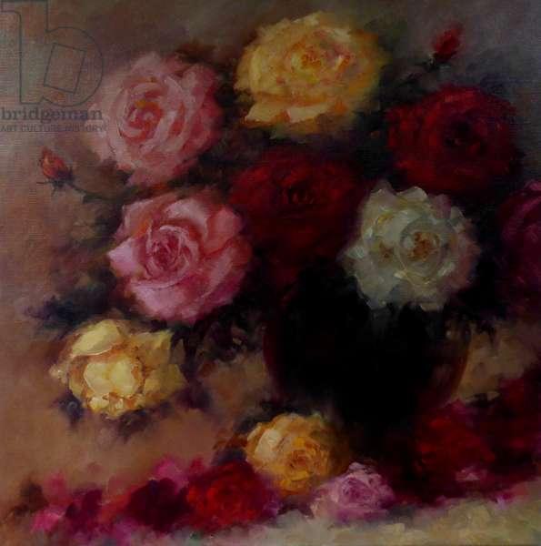 Winter Roses, 2018, (oil n linen)