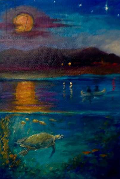 Harvest Moon, 2020, (oil on canvas)