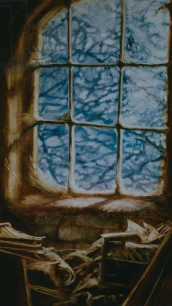 Cobwebs, 1999 (oil on panel)
