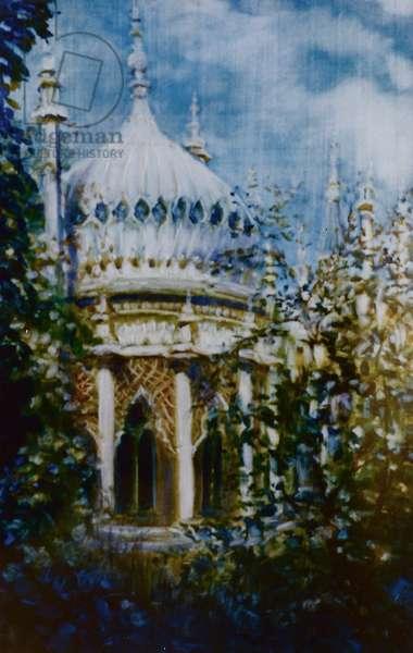 Brighton Pavilion, 2000 (oil on paper)