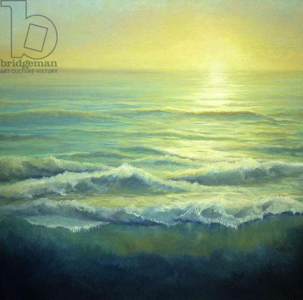 Golden Haze, 2004 (oil on canvas) Seascape