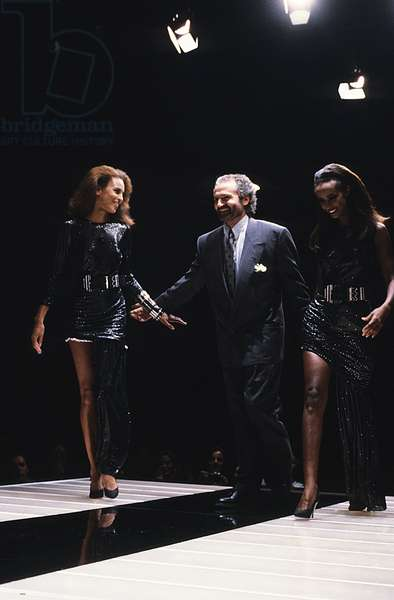 Defile milan 1987 - Portrait of Gianni Versace