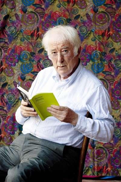 Portrait of the Irish poet Seamus Heaney (1939-2013) in September 2012 Photography