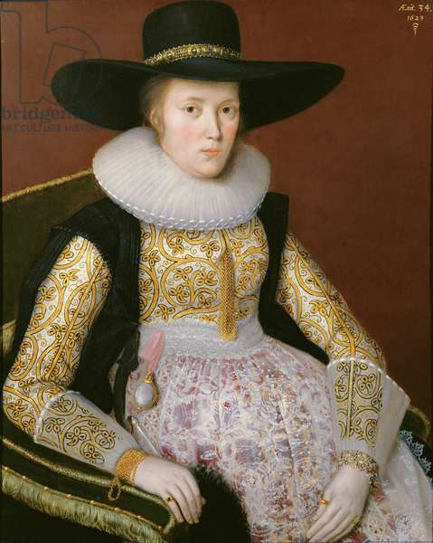Unknown Lady, 1623 (oil on panel)
