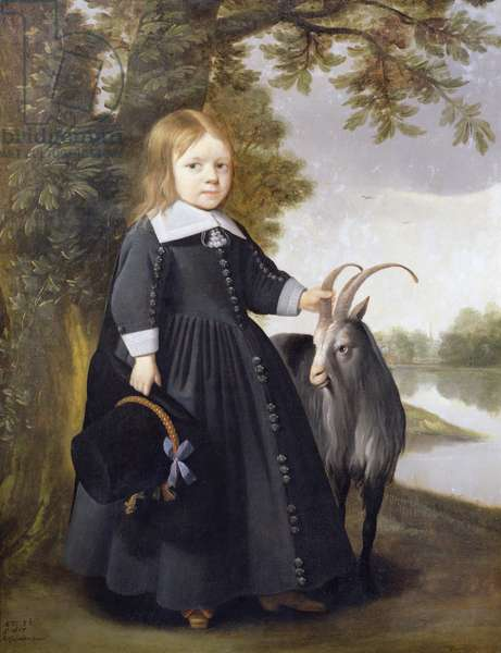 Child and Goat, 1655 (oil on canvas)