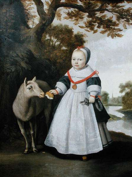 Child and Sheep, 1655 (oil on canvas)