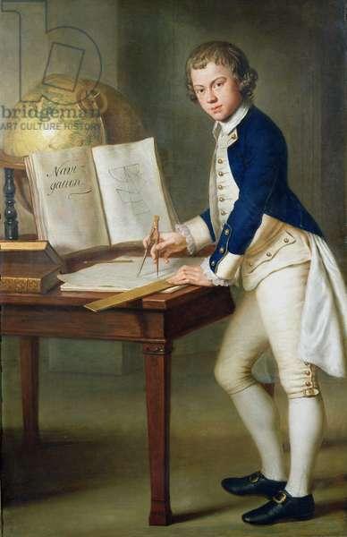 Portrait of a Midshipman (oil on canvas)