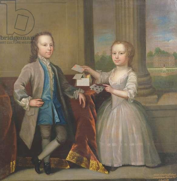 William Humphrey Wykeham (1734-83) and Richard Wykeham (1739-1805) (oil on canvas)