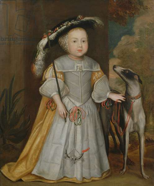 Young Boy and Pointer, 1650 (oil on canvas)