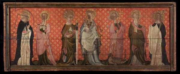 Battel Hall Retable, c.1375-1410 (oil on oak panel)