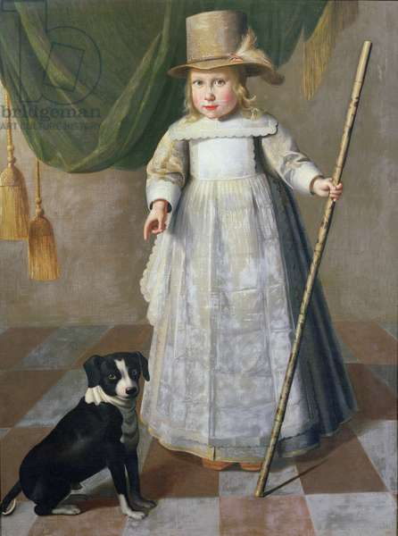 Child and Dog, Dordrecht (oil on canvas)