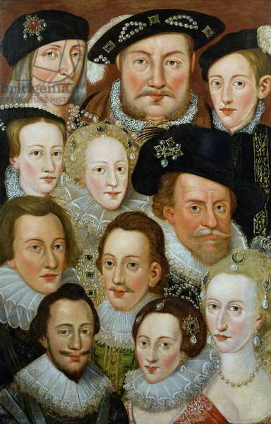 European Royalty (oil on canvas)