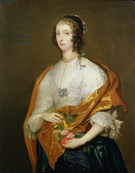 Queen Henrietta Maria (1609-69) (oil on canvas)
