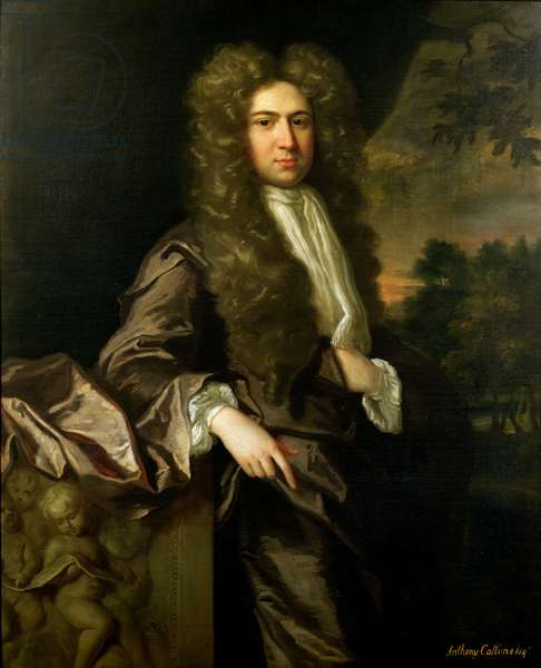 Anthony Collins (1676-1729) (oil on canvas)
