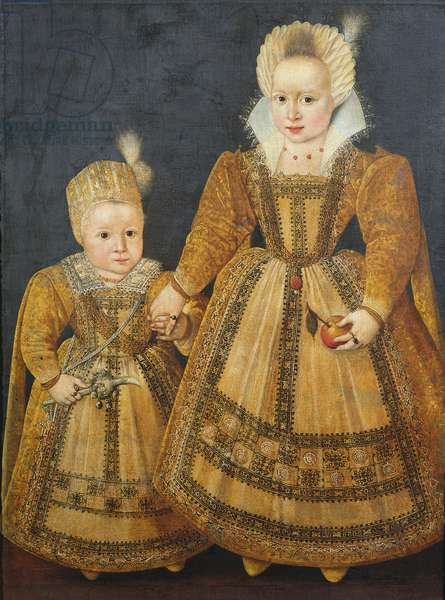 Boy and Girl (oil on canvas)