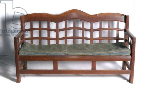 Sofa, 1906 (oak & wool upholstery)