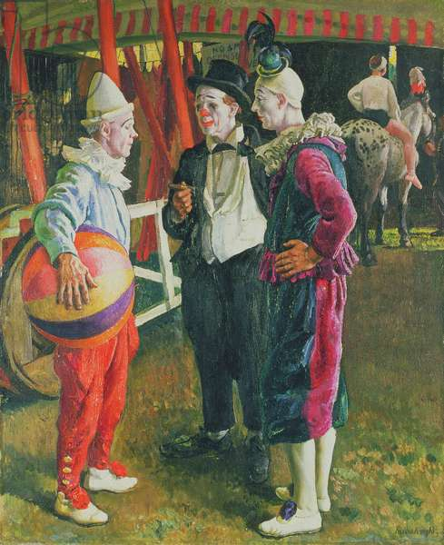 The Three Clowns, 1930 (oil on canvas)