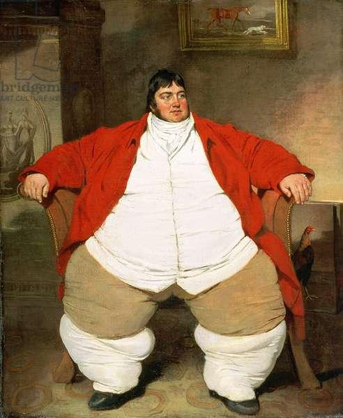 Portrait of Daniel Lambert (1770-1809) (oil on canvas)